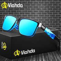 Viahda 2020 marca popular polarizado óculos de sol do esporte dos homens para as mulheres viagem gafas de sol