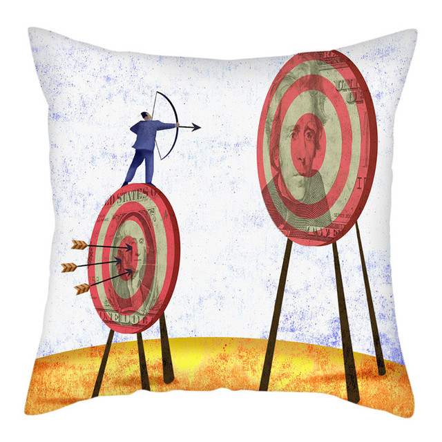 fuwatacchi sword target pattern cushion cover realistic printed chair pillow covers decoration home sofa pillowcases 45cmx45cm
