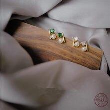 Pendientes de plata de ley 925 con perlas de circón para mujer, joyería de oro de 14k con temperamento de lujo para fiesta de boda, regalo para novia