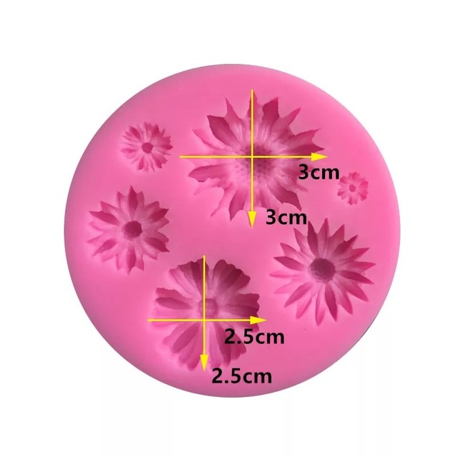 3D Flower Silicone Chocolate Mold