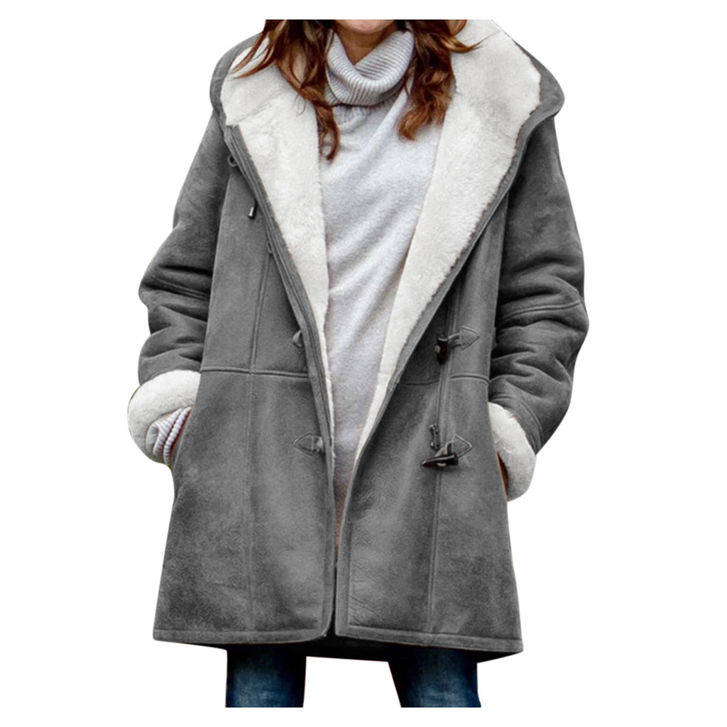 Jacket Women Parkas Hooded Velvet Warm Korean Plus Large-Size Winter Long Loose Cotton title=