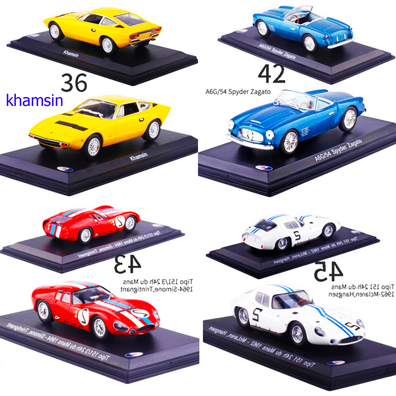 <font><b>1</b></font>:<font><b>43</b></font> <font><b>Scale</b></font> Diecast Alloy Classic <font><b>Car</b></font> Maserati Racing Rally <font><b>Model</b></font> metal Vehicles Toys F Collection Display with Transparent Cover image
