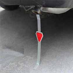 Triangle Shaped Car Grounding Chain Anti-static Strip Metal Electrostatic Belt Prevent Accidents Warning Reflective Tape