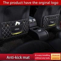 2pcs/1set Car Seat Back Protector Cover Anti Children Kick Pad Anti Dirty Scratches Mat Clean Easily FOR Volvo LOGO|Anti-Child-Kick Pad|   -