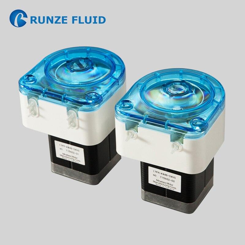 Pompe liquide péristaltique microfluidique rotative étape de précision moteur à faible viscosité petit débit distribution simple double canal
