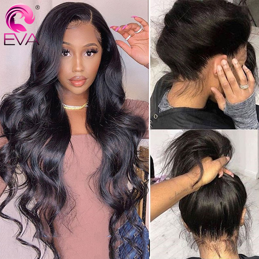 Eva Body Wave 360 Lace Frontal Wig Pre Plucked With Baby Hair Brazilian Lace Front Human Hair Wigs For Black Women Remy Hair Wig