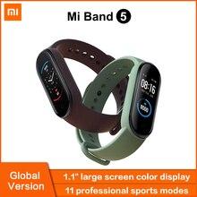 Xiaomi Mi Band 5 Global Version Smart Bracelet AMOLED Touch Screen Miband 5 Wristband Sport Fitness Tracker Heart Rate Monitor