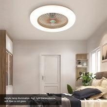 36W LED tavan vantilatörü aydınlatma ile ayarlanabilir rüzgar hızı uzaktan kumanda ile Modern LED tavan işık yatak odası oturma odası için