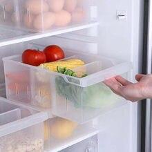 Nowe pudełko do lodówki domowej plastikowy pojemnik do przevhowywania pojemnik prostokątny pojemnik do przechowywania warzyw z zamrażarką