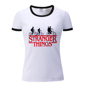 Stranger Things Printed T Shirt Vintage Style Graphic Tees Women White Animal Print Tshirt Fashion Lady Dreamy Tops Befree Moto