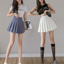 2020 Cosplay black white skirt Fashion Female Mini Skirts Short Women high waist pleated skirt Sweet Cute Girls Dance Mini Skirt