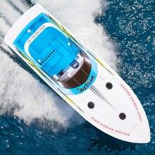 Henglong 3827 68 см 2,4 г 4CH RC гоночная лодка высокая скорость 25 км/ч гребля с двойной привод системы 100-150 м лодки с дистанционным управлением корабль