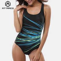 Attraco Delle Donne di Un Pezzo Costumi Da Bagno Geometria di Stampa Costumi Da Bagno Delle Donne Colorblock Costume Da Bagno Costume Da Bagno Monokini Bikini