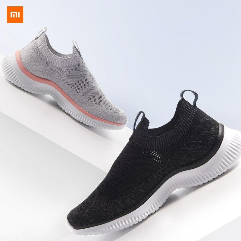 Xiaomi Mijia Youpin ulehelm léger marche paire de chaussures de loisirs volant tissé supérieur une pièce chaussette respirant structure 45