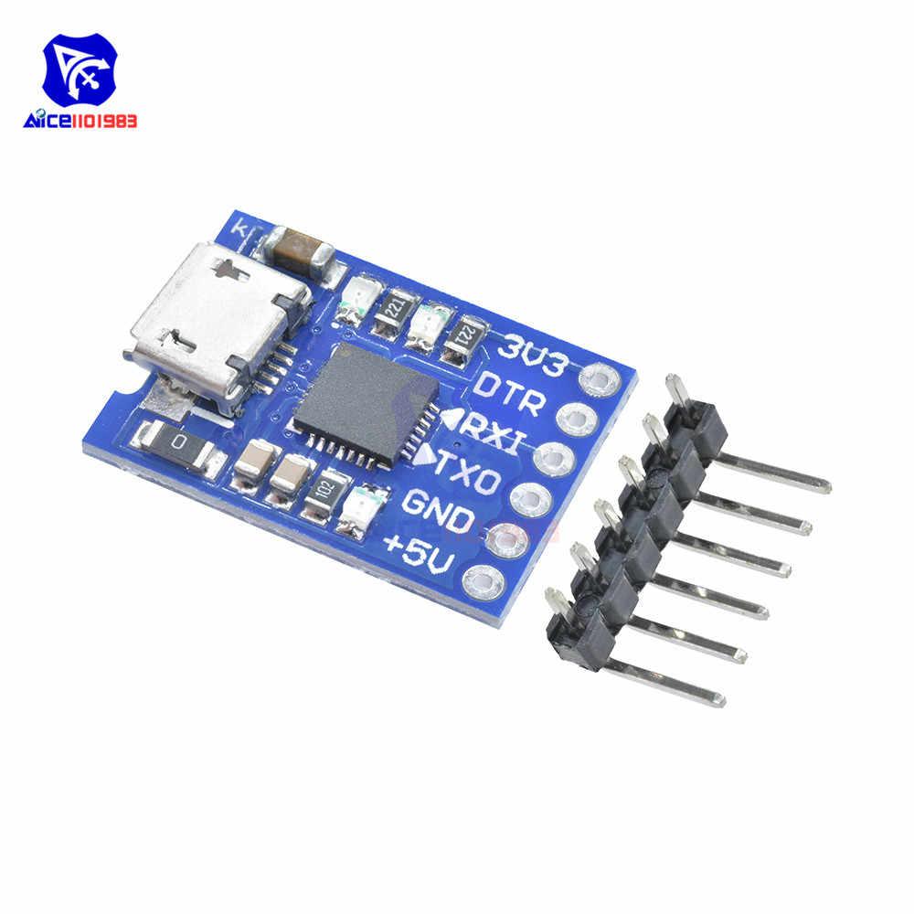 Diymore Micro USB CP2102 USB 2.0 untuk UART TTL Adaptor Modul 6 Pin Serial Converter STC Mengganti FT232 UNTUK ARDUINO dengan Pin