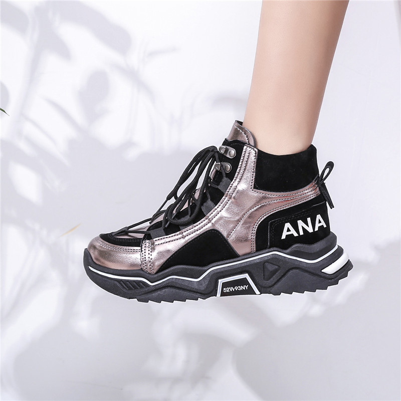 Women Sneakers Vulcanized Shoes For Women Lace Up Winter Keep Warm Comfortable Outdoor Sneakers Trainers Footwear Dad Shoes