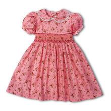 Детское платье с отложным воротником и поясом на пуговицах Возраст
