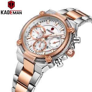 Image 2 - Bayanlar bilek saatler üst marka lüks iş kadınları saatler 3ATM yeni moda kadın saat çelik bilezik Relogio Feminno 836
