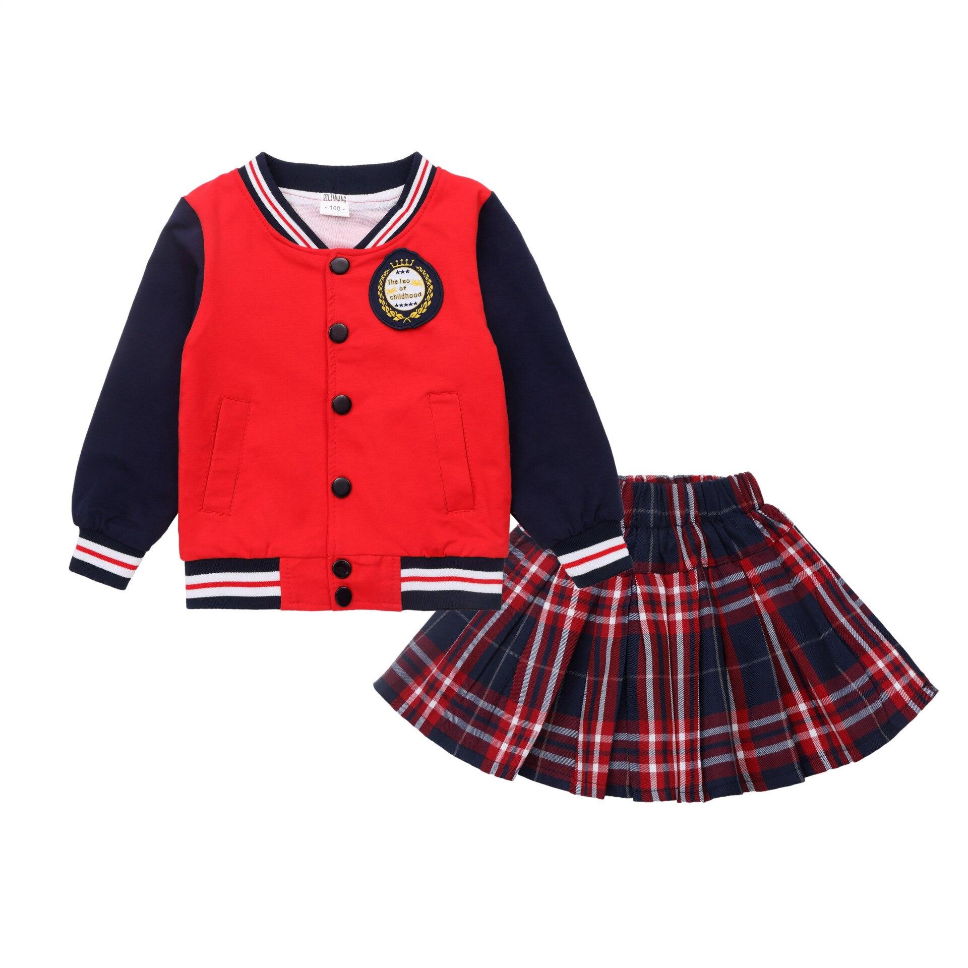 Kindergarten Suit 2018 Spring And Autumn College Style School Uniform Children British Style Set Young STUDENT'S Business Attire