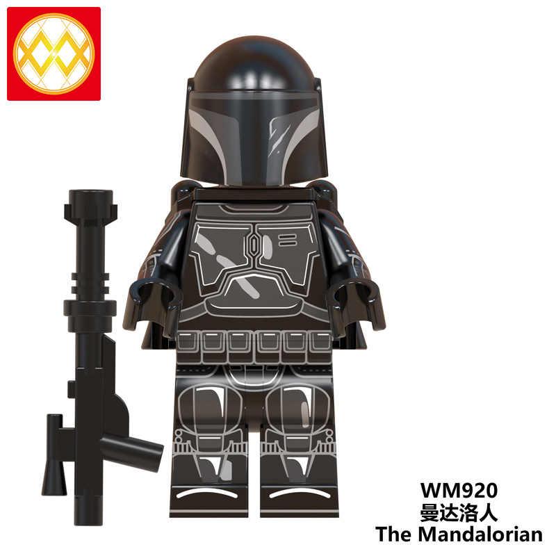 Envío Gratis WM6085 el bebé mandaloriano Yoda caballeros de Ren comunidad Virtual Kylo Vadar figuras bloques de construcción juguetes para niños