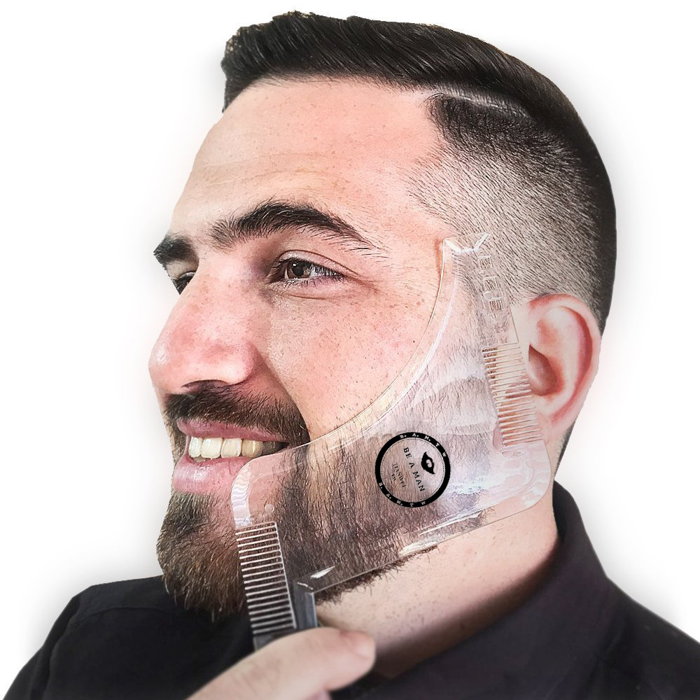 The Latest Comb Molding Tool Sex Men's Gentleman Beard Comb ABS Shaping Mold Beard Shaped Comb Hair Brush
