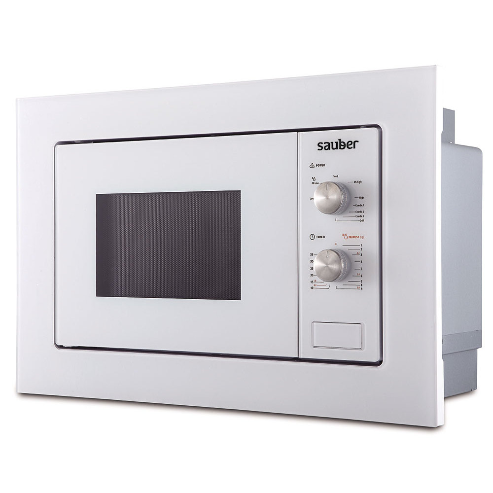 Microwave Oven Integrable Sauber Hms01W 20 Liters With Grill White