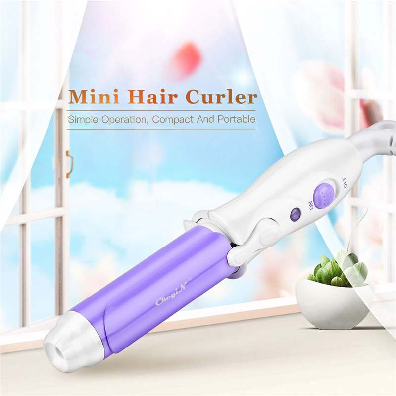 Portable Hair Styling Tools Mini Hair Curlers Travel Curling Tongs Iron Hair Roll Mini DIY Hair Styler Curl Beauty Machine