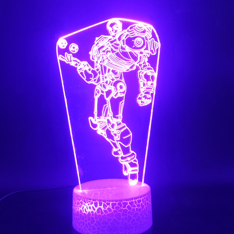 3D Lamp Overwatch Game Hero Sigma Best Present For Children For Living Room Decoration Touch Sensor Usb Led Night Light Lamp