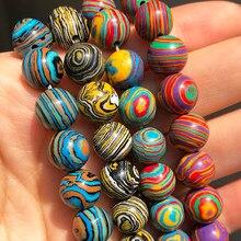 Pedra natural multicolorido malaquita pavão grânulos para fazer jóias redondo espaçador grânulos diy pulseira acessórios 15 4 4 6 8 10mm