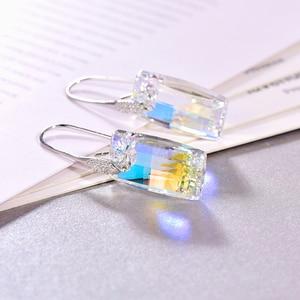 Image 4 - Malanda boucles doreilles cristaux de Swarovski, pendentifs urbains pour femmes, en argent Sterling, Piercing, pendentifs, mode