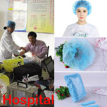 100 X Disposable Head Cover Mob Cap Hat Hair Net Non Woven Anti Dust Hats Shower Caps(China)
