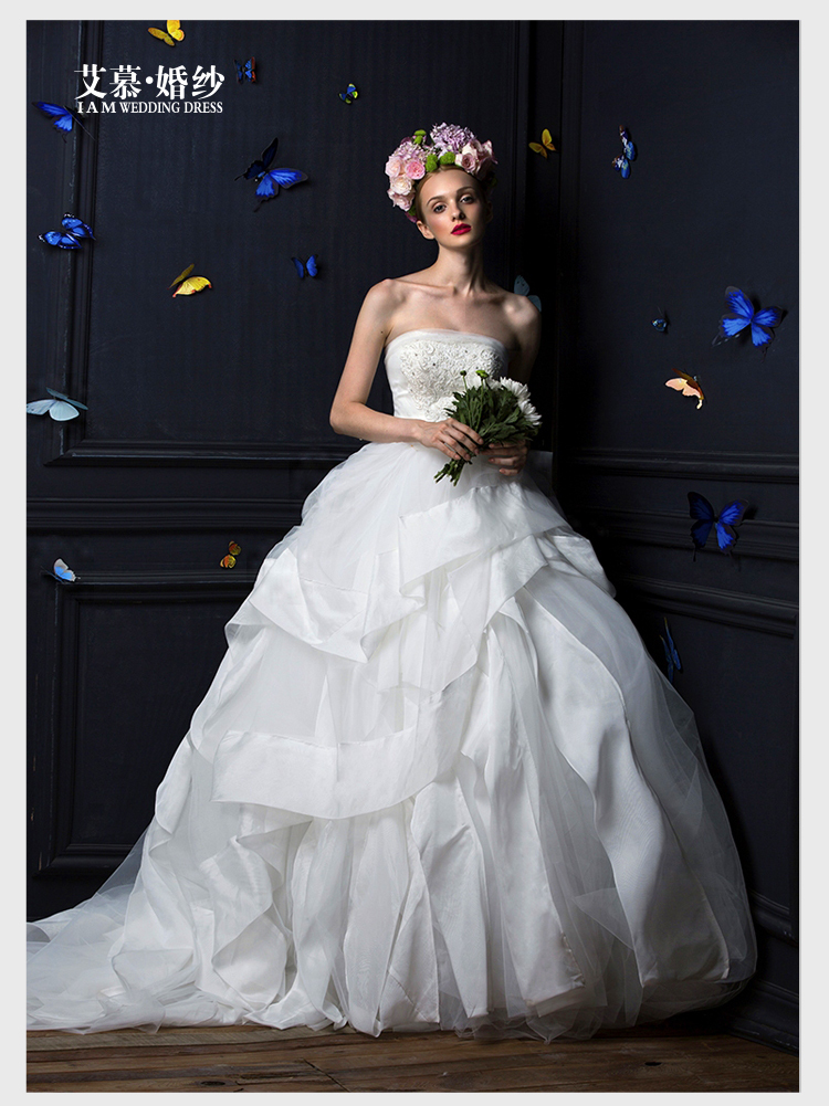 Free Shipping Casamento Tiered Beading Fashionable Romantic Sexy Vestido De Novia Long Wedding Dress Bride 2016 Ball Bridal Gown