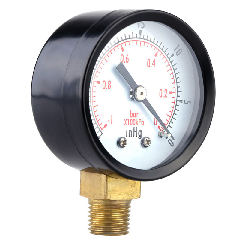 Vacuum Pressure Measure Gauge For Air Compressor Water Oil Gas 1/4