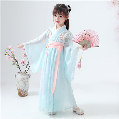 Ancient Chinese Costume Kids Child Fairy Hanfu Dress Folk Dance Performance Chinese Traditional Dress For Girls Cosply Clothing