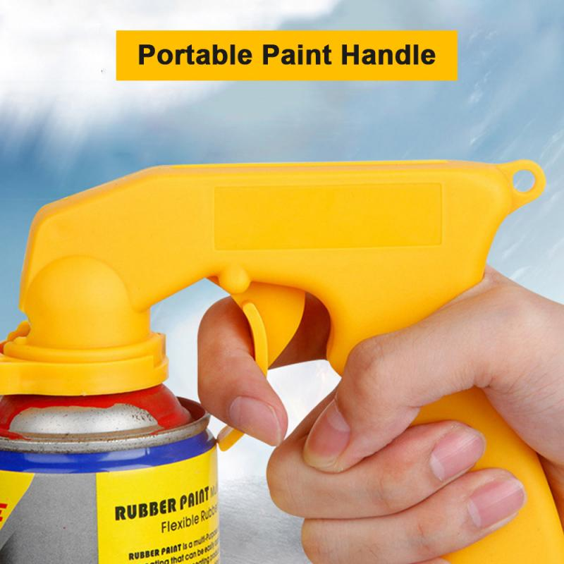 Universal Self-painting Spray Adaptor Paint Care Aerosol Spray Gun Handle With Full Grip Trigger Locking Collar Car Maintenance