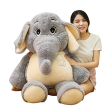 Lovely 38/58/68cm Gentle Elephant Plush Toys Staffed Cartoon Animal Doll Kids Baby Children Love Toy Appease Christmas Gift