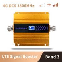 3G 4G LTE DCS 1800mhz amplificador de teléfono móvil GSM 1800 repetidor de señal teléfono celular amplificador de red 65dB ganancia pantalla LCD