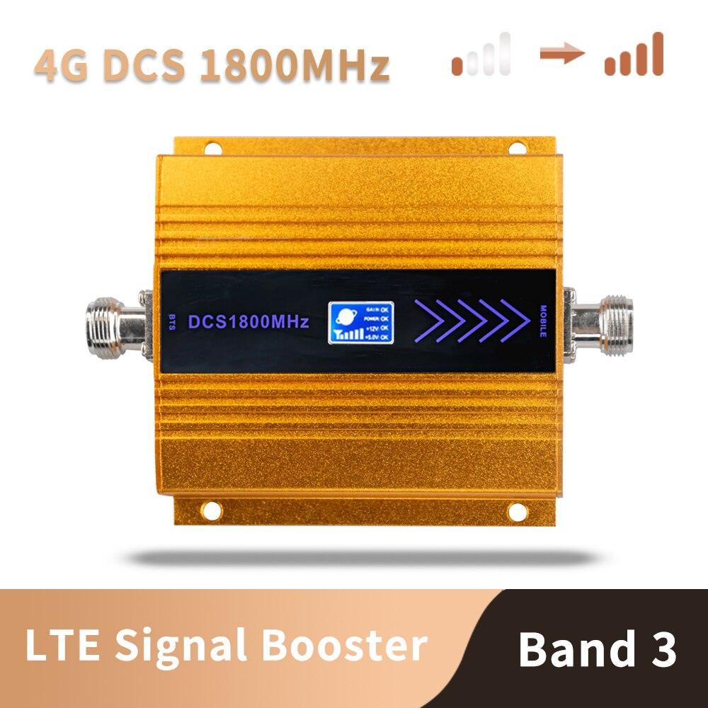 3G 4G Lte Dcs 1800 Mhz Moblie Telefoon Booster Gsm 1800 Signaalversterker Cellulaire Mobiele Telefoon Versterker Netwerk 65dB Gain Lcd Display