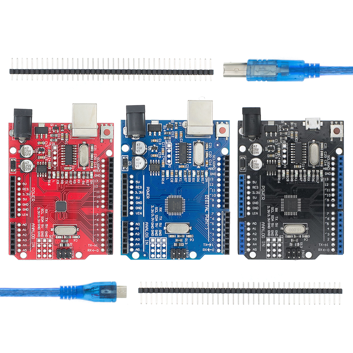 Плата разработки UNO R3 CH340G + MEGA328P SMD чип 16 МГц для Arduino UNO R3, USB-кабель ATMEGA328P CH340 2,4 TFT