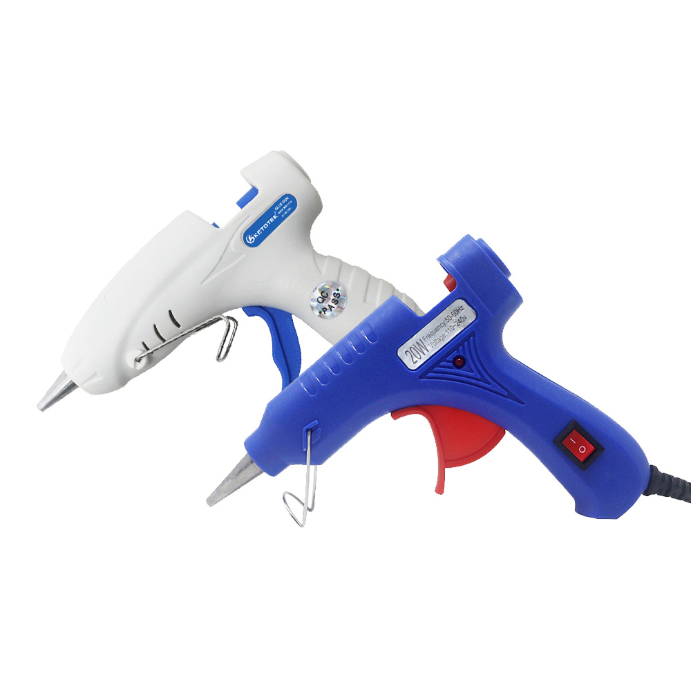Ketotek 20W 7mm Hot Melt Glue Gun EU US Plug Electric Heat Temperature Crafts Repair Tool 30W Glue Sticks For DIY