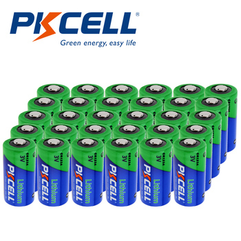 30Pcs Pkcell CR123A 3V Lithium Li- MnO2 Battery Equal CR123 123A CR17345 KL23a VL123A DL123A 5018LC EL123AP For camera 12pcs pkcell lithium battery cr123a cr 123a cr17345 16340 cr123a 3v non rechargeable batteries for camera gas meter primary dry