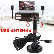 Hohe Qualität Indoor USB Antenne TV Digital HD 1080P 4K 200 Meile Palette Skywire TV 16ft Coax Kabel(China)