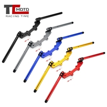 Motocykl Clip-On Adapter Plate regulowany zestaw kierownic do Yamaha MT07 MT-07 MT 07 FZ07 FZ-07 FZ 07 2014-2018 2017 2015 2016 tanie tanio TCmoto racing time High quality CNC aluminum strong enough 1 18kg TC-COHB-004 Black Blue Red Gold Gray 22mm For Yamaha MT07 2014-2018 ( not for tracer)