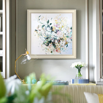 Hand-painted Oil Painting Decorative Flower Restaurant Dining Hall E Peony Mural Paintings Modern Nordic Substantial Manual