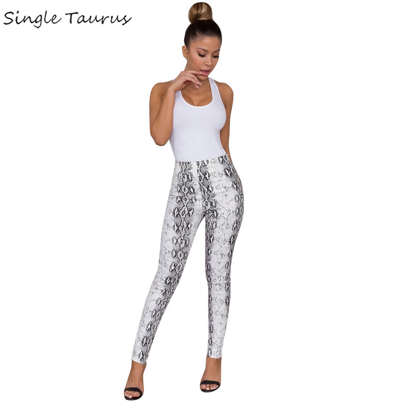 Snakeskin Print Leggings Womens Elasticity Push Up Sexy Women Clothes Fashion Tight Workout Leggings High Waist Ropa Mujer 2020