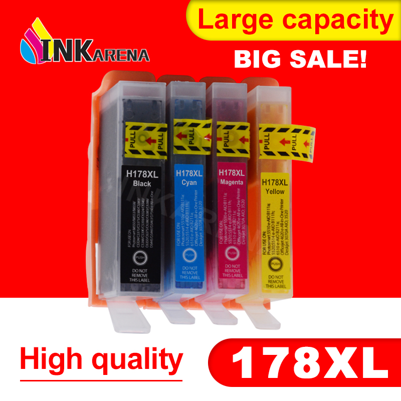 INKARENA 178XL Ink Cartridge Replacement for <font><b>HP</b></font> <font><b>178</b></font> Photosmart B109a B010b B209 B210 3070A 7515 5515 3520 7510 4620 5510 Printer image