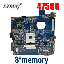 لوحة أم للكمبيوتر المحمول For Acer Aspire 4750 4750g 4752 4752g 4755 4755g 8 * memory graphics 48.4IQ01.031 MBBRT01003 PGA989