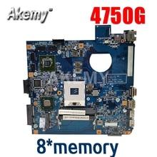 Para For Acer Aspire 4750 4750g 4752 4752g 4755 4755g portátil placa base 8 * memoria gráfica 48.4IQ01.031 MBBRT01003 PGA989