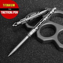 Tytan TC4 Mini długopis taktyczny samoobrona Outdoor narzędzie EDC brelok kieszonkowy biznes pisanie długopis kolekcja długopis
