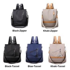 Image 4 - Anti theft Women Backpacks Waterproof Nylon Women Backpack Ladies Large Capacity Backpack High Quality Bagpack sac a dos